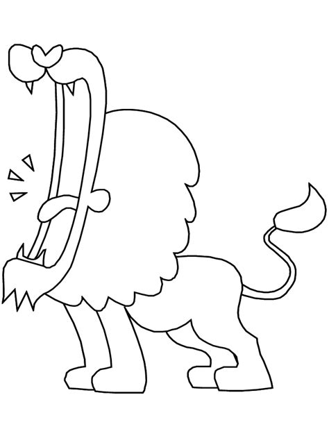 lions lion animals coloring pages coloring book