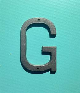5 inch cast iron metal letter g by farawayhood on etsy 6 With 6 inch iron on letters