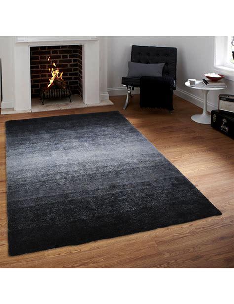 teppich schwarz grau teppich 171 shine 187 schwarz grau 120 x 170 cm