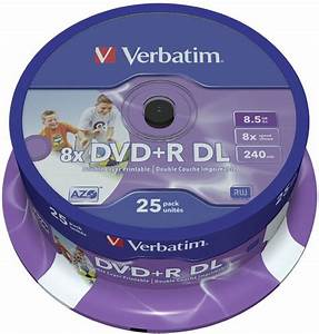 Double Layer Dvd : verbatim dvd r dl 8 5gb 8x inkjet white 25er spindel dvd ~ Kayakingforconservation.com Haus und Dekorationen