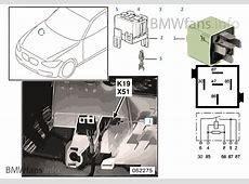 Relais compresseur de climatisation K19 BMW 3' E46 320d
