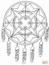 Coloring Pages Native Mandala American Arrows Bows Printable Indian Designs Sheets Drawing Americans Dreamcatcher Supercoloring Dot Through sketch template