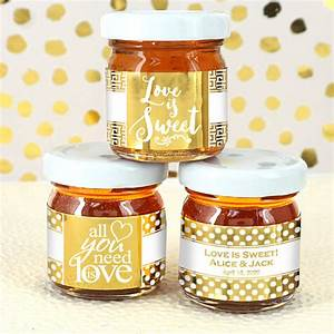 wedding favor honey personalized metallic foil honey jar With custom honey jars