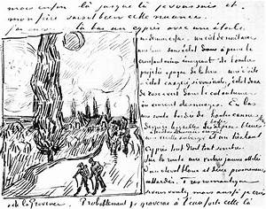 vincent van gogh letter 643 sketch cypres patrishka39s With complete letters of van gogh