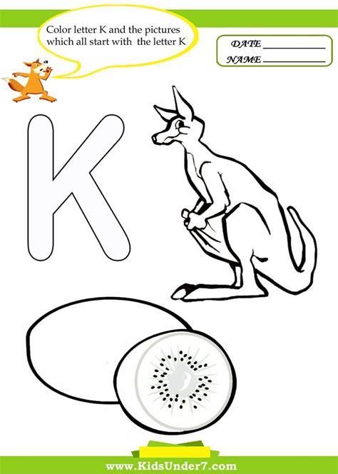 letter k coloring pages letterk alphabet coloringpages