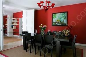 deco salle a manger en peinture With couleur de peinture de salon 4 cuisine couleur orange pour un decor moderne et energisant
