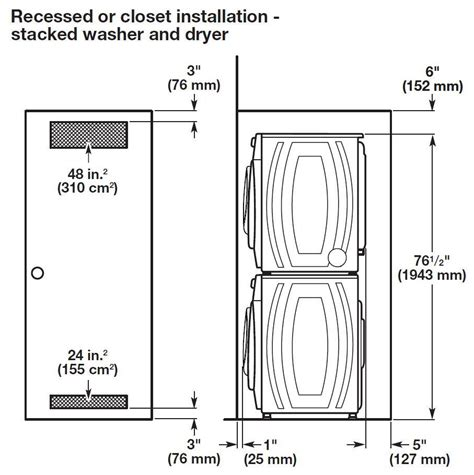 washer dryer closet dimensions mibhouse