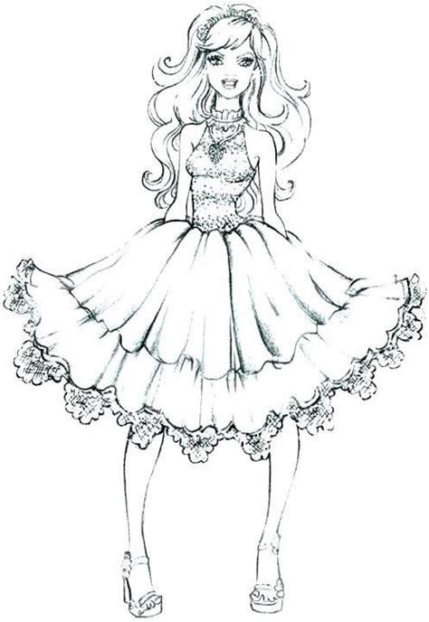 dresses coloring pages dress coloring pages fabulous doll dress barbie coloring barbie