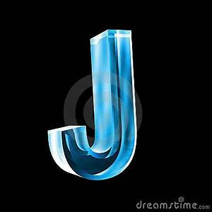 letter j in blue glass 3d colorblue pinterest With glass letters