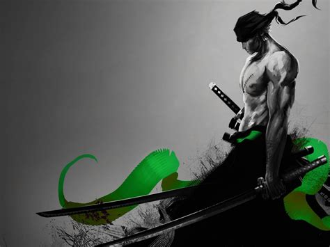 desktop wallpaper roronoa zoro warrior  piece anime
