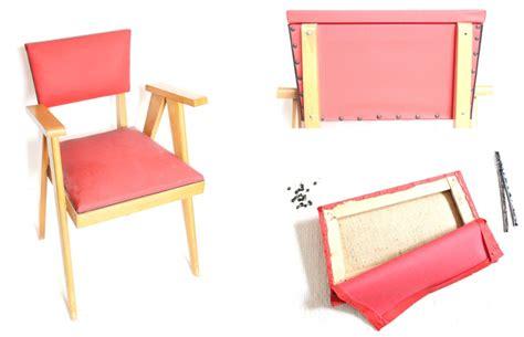 retapisser une chaise diy retapisser une chaise