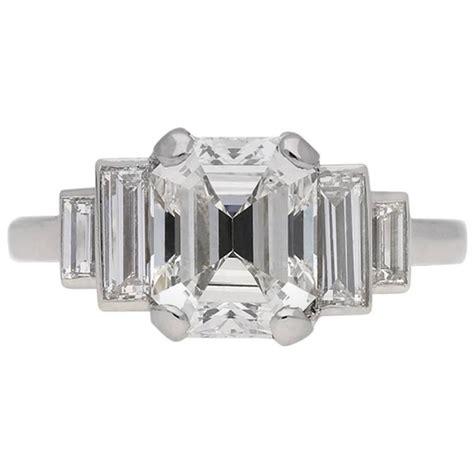 emerald cut deco engagement rings deco emerald cut engagement ring