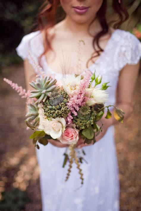 Garden Bohemian Wedding Inspiration Polka Dot Bride