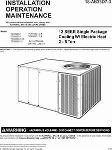 Trane Package Units Both Units Combined  Manual L0904650