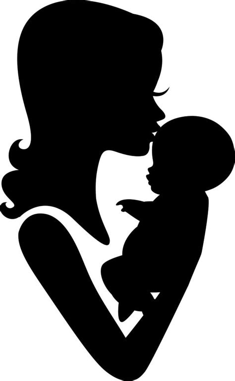 mother and child clipart silhouette - Clipground