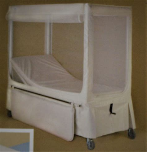 Enclosed Bed by Pedicraft Canopy Enclosed Bed Wide Elev
