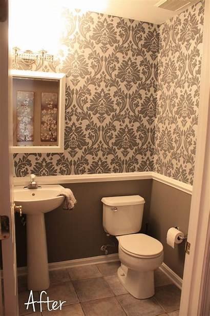 Bathroom Downstairs Chair Rail Gray Pink Idea