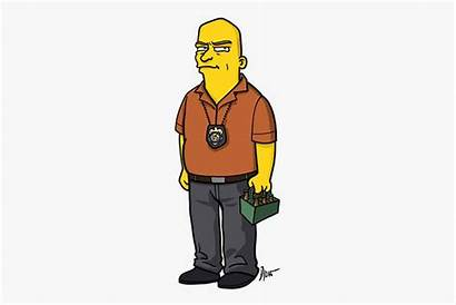 Bad Breaking Simpsons Characters Illustrated Hank Schrader