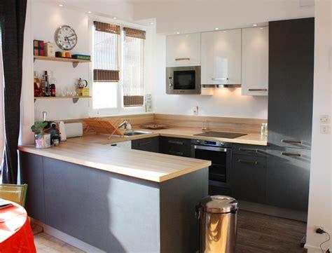 cuisine et blanc photos cuisine moderne blanc et bois