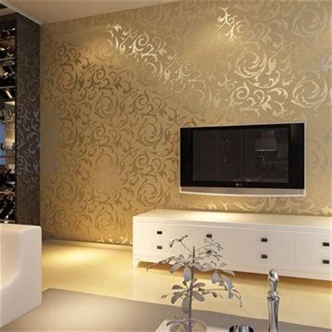 Goldene Tapete Schlafzimmer by European Style Golden Silver Simple European Pvc Wallpaper