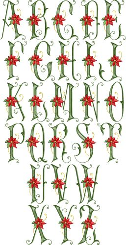 poinsettia gold font graffiti lettering lettering alphabet embroidery fonts