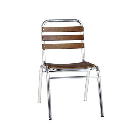 chaise aluminium exterieur chaise terrasse aluminium bois chaise aluminium bois