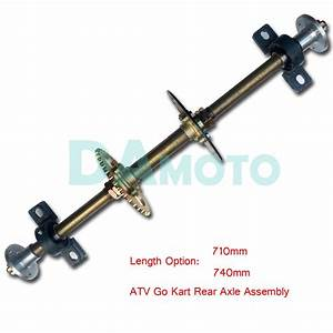 Atv Quad Bike Buggy Go Karts Rear Axle Complete Assembly