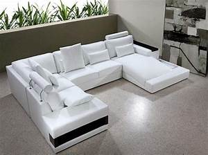 diamond white leather sectional sofa with lights buy With modern leather sectional sofa with built in light