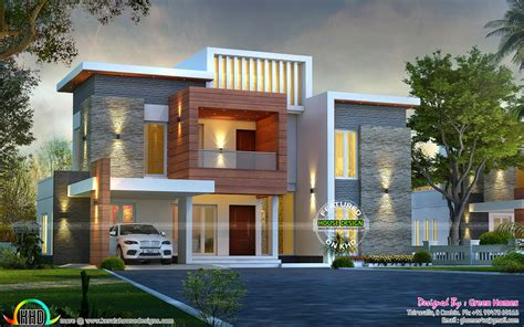 contemporary one house plans awesome contemporary style 2750 sq ft home kerala home
