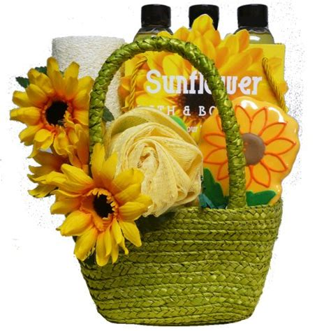 Sunflower Bath Gift Set flowers to be delivered be delivered birthday cakes