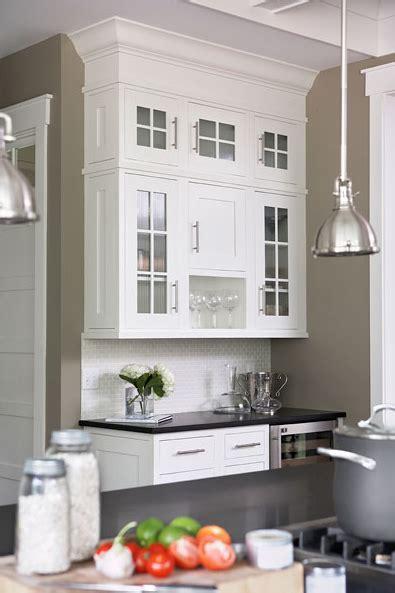 Kitchen With Khaki Walls Paint Color, White Kitchen