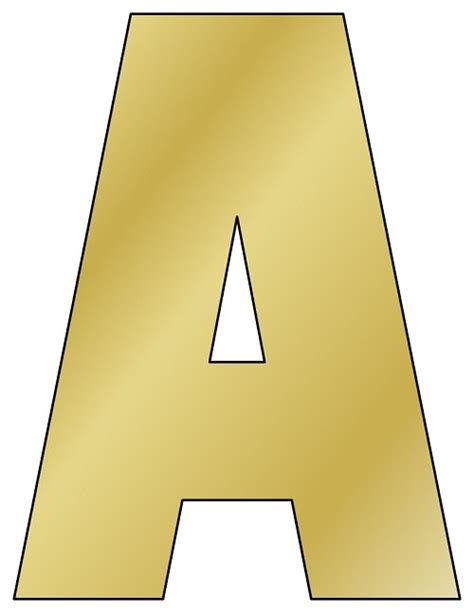 gold printable letters     printable