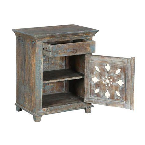 Mango Wood Nightstand by Winter White Snowflake Mango Wood Nightstand End Table Cabinet