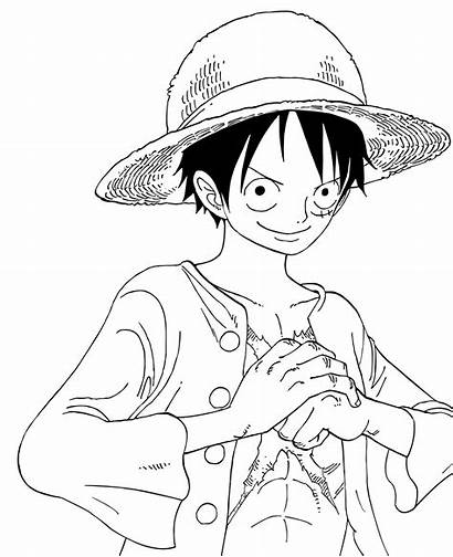 Luffy Lineart Piece Pages 2y Coloring Deviantart