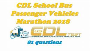Cdl School Bus  Passenger Vehicles Marathon