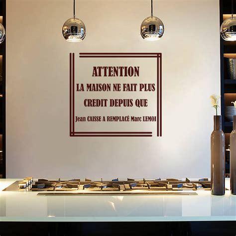proverbe cuisine humour sticker cuisine attention la maison ne fait plus credit