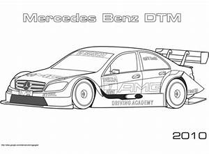 Ausmalbild 2010 Mercedes Benz DTM Ausmalbilder
