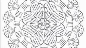 Diagrama Crochet  Ganchillo Para Aplique Redondo