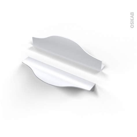 poignee cuisine entraxe 128 poignée de meuble de cuisine n 58 alu mat blanc 14 6 cm