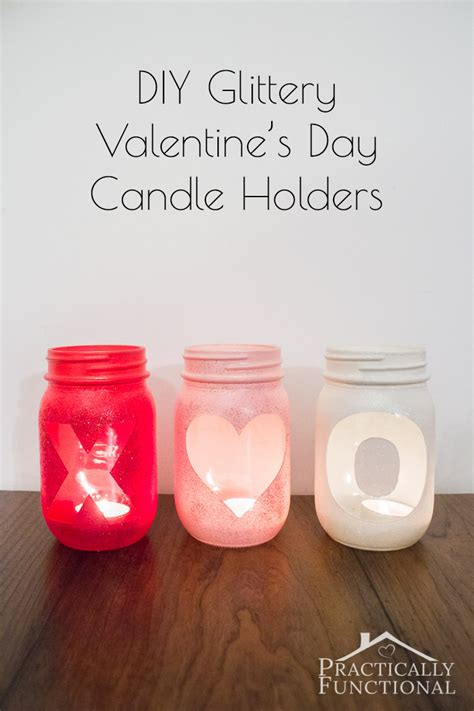 diy glittery valentines day votive candle holders