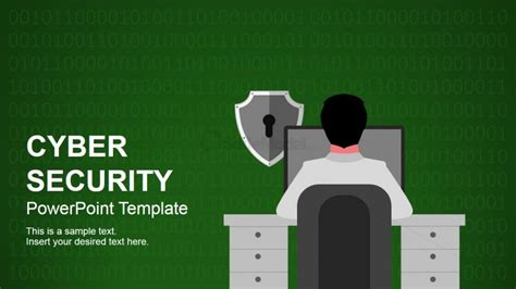 cyber security themed deck  powerpoint slidemodel
