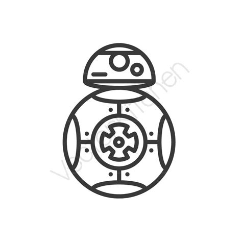 wars bb8 inspired cutting template svg eps silhouette diy