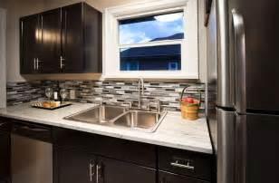 Mosaic Glass Backsplash Kitchen Small Kitchens With Cabinets Design Ideas Designing Idea