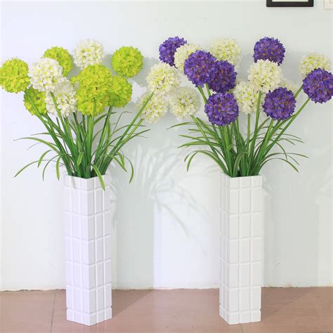 flower decorations for home dining room design interesting artificial flowers with unique purple and yellow flower and