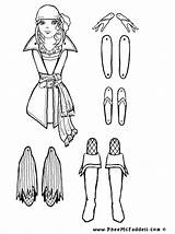 Puppet Coloring Pages Paper Puppets Pirate Dolls Grace Pirata Sheets Marionette Cut Crafts Colorear Colouring Piratas Marioneta Piraten Proyecto Los sketch template