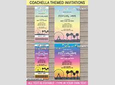 Coachella Themed Birthday Party Printables Coachella