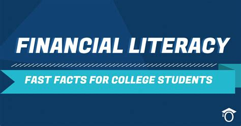 Financial literacy fast facts for college students ...