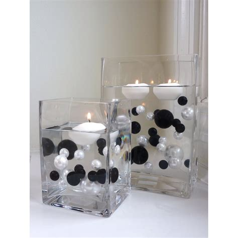 black white table centerpieces red white and black wedding centerpiece ideas