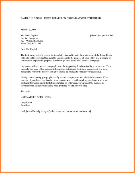 format  business letter letters  sample letters