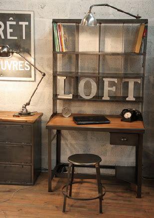 bureau industriel pas cher mobilier brocante meuble mobilier design industriel métier